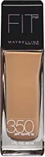 Maybelline New York Fit Me! Foundation, 350 Caramel, SPF 18,