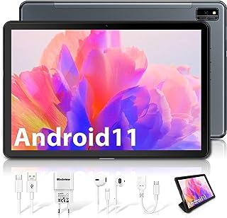 Blackview Tab10 Tablet 10,1 Zoll Android 11 Tablet PC, 4G LTE 4GB RAM 64GB ROM/128 GB Externer TF, 7480mAh Octa Core Prozessor 8MP+13MP Kamera, 1920×1200 FHD IPS, Face ID, GPS, Bluetooth 5, OTG (grau)