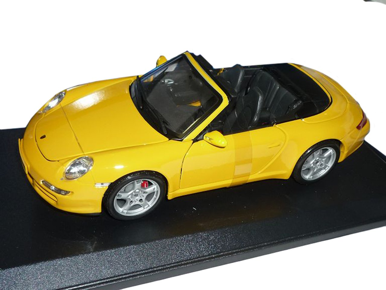 Maisto Porsche 911 997 Cabrio Gelb Carrera S 1//18 Modellauto Modell Auto