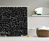 Doormat-bag Einstein Physics Formula Science Geek Black White Fabric Shower Curtain Gift Elusive to Your Curtain Call