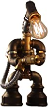 E2С-Loft Handmade Lamp- Steampunk Industrial Style- Pipe Desk Light with Dimmer - Robot Flametrooper