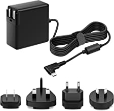 POWSEED 61W International USB C Adapter Type C Travel Charger US EU UK AU Ac Plug PD Power Delivery Supply for MacBook Pro Air 2018 Google Samsung Asus Acer Lenovo Huawei Tablet Laptop Chromebook