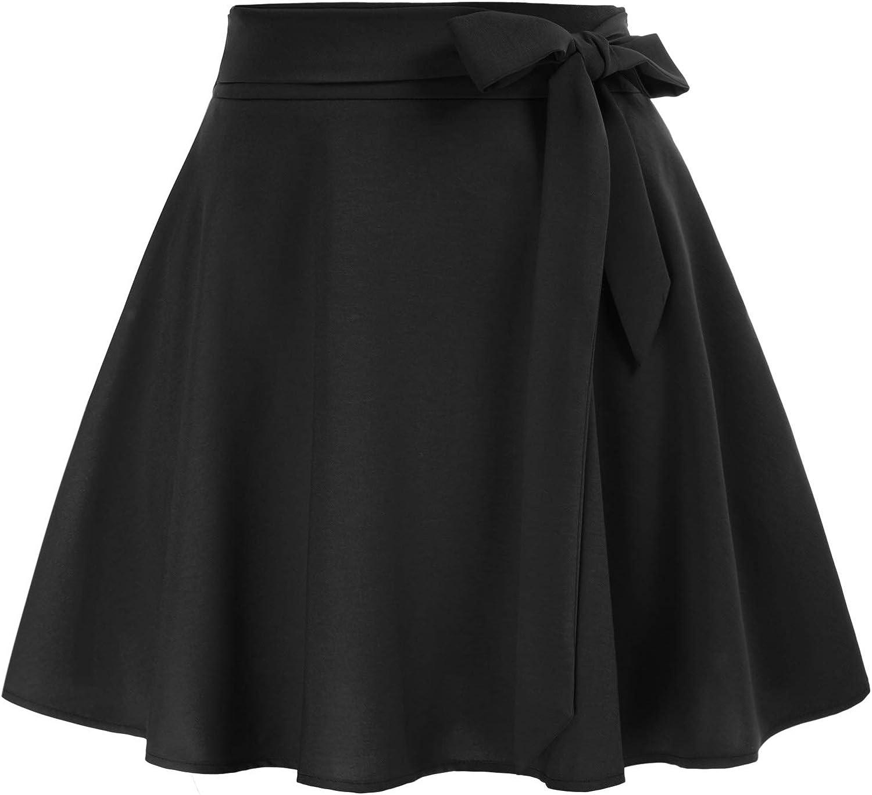 Belle Poque Women's High Waist Pockets Financial sales sale Skirt A-Line Skater Flare discount