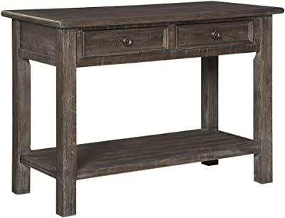 Amazon Com Leick Mission Hall Console Table Russet Kitchen Amp Dining