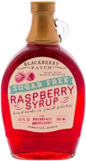 Blackberry Patch, Syrup Whole Raspberry No Sugar Added, 12 Ounce