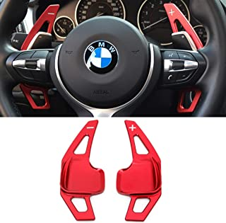 For BMW Paddle Shifter Extensions,Jaronx Aluminum Metal Steering Wheel Paddle Shifter(Fits: BMW 2 3 4 X1 X2 X3 X4 X5 X6 series,F30 F34 F32 F15 F16 F25 F26 F48 F39)-Red