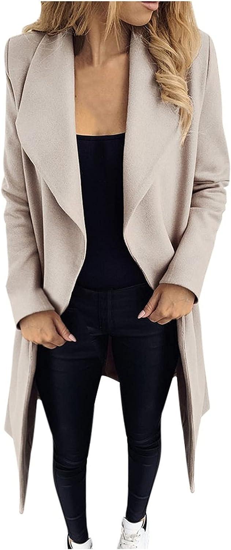 Fashion Jacket Coat Womens Warm Faux Coat Cardigan Winter Warm Solid Long Sleeve Outerwear