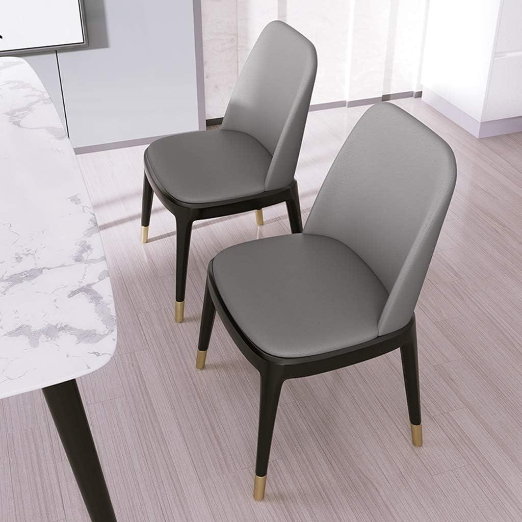 LF Chaise de Salle, Chaise de Bureau Simple, créative Dossier, Chaise Loisirs, Maison Adulte Chaise de Salle Simple (Color : White) Light Grey