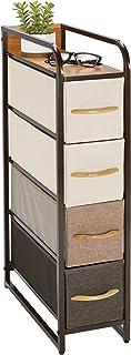 mDesign commode avec quatre tiroirs pour les vêtements, couvertures, etc. – table de chevet pour chambre, studios et petit...