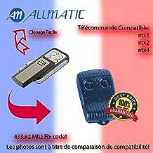 Allmatic B.RO2WN Lot de 2 /émetteurs radio portatifs /à 2 commandes Fonctionnent en 433/MHz