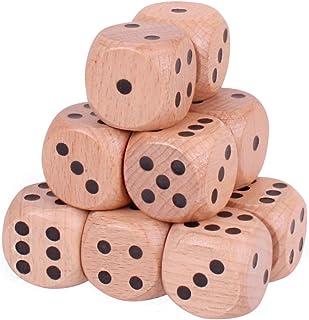 Gioco da tavolo in legno naturale Dice D6 Spot a sei facce da 10 pezzi per