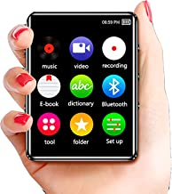 $55 » MP3 Player with Video Play Bluetooth 5.0, FM Radio 1.8'' Full Touch Screen Portable Music Player, Support to 128GB,Black