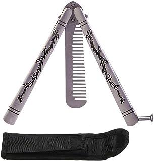 La práctica de la mariposa de acero inoxidable plegable cuchillo Trainer Peine Forma Formación cuchillo de la herramienta Kit de Dragón tallar