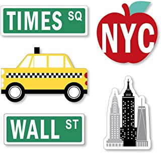 Big Dot of Happiness NYC Cityscape - DIY Shaped New York City Party Cut-Outs - 24 Count