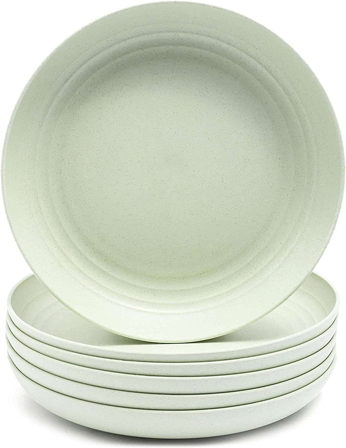 Wheat Straw Plates Unbreakable Plate 6 9 in discount Pack Green Quantity limited