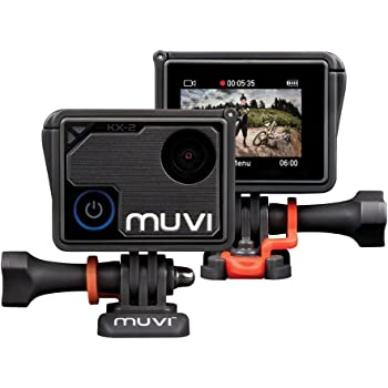 Veho Muvi KX-2 Pro Action Camera | KX-Series | Handsfree Camcorder | WiFi | 16GB microSD Card | 4k Action Cam | 12MP Photo | 4k30 / 1080p100 | Waterproof Housing (VCC-009-KX2-PRO)