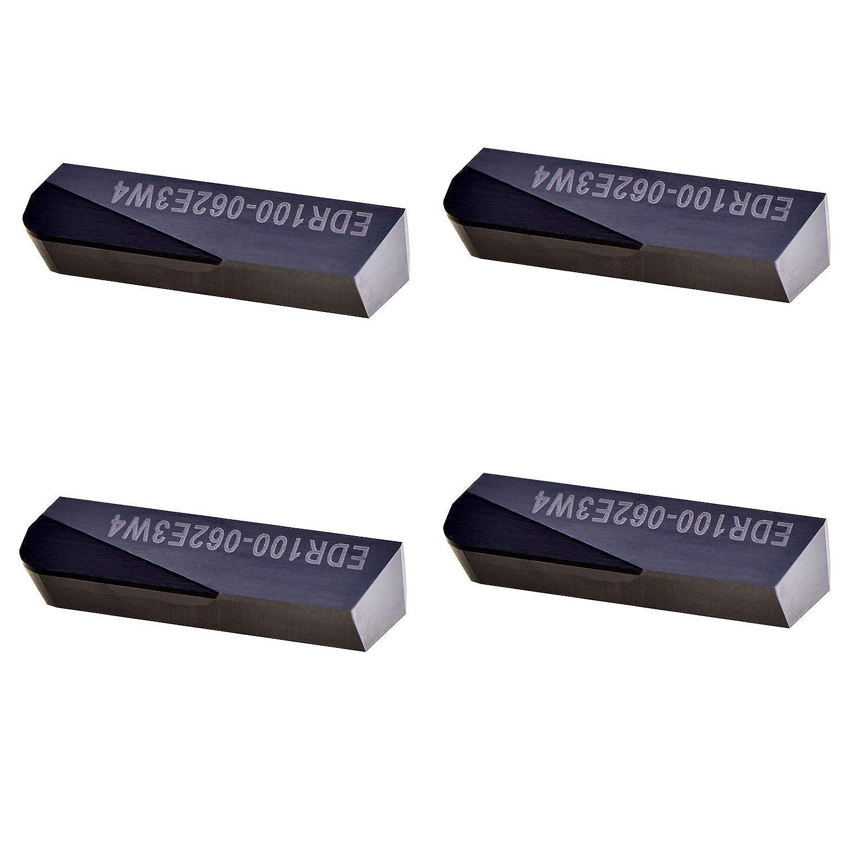 MAXTOOL 4PCs EDR100-062-E3-W4 PCD Tip Milling Recommendation Latest item Inserts Po DOV-LOK