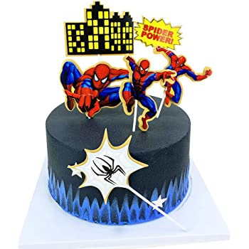 Amazon Com Havingfun Spiderman Cake Toppers For Kids Birthday Decorations 6pcs Toys Games