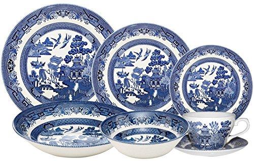 Churchill Blue Willow 42 Piece Dinner/Tea Set