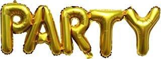 """Procos """"Party"""" Lettered Golden Foil Balloon"""