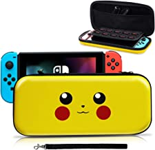 Carrying Case for Nintendo Switch,[Design for Let's Go Pikachu/Eevee Pouch][Full Protective] for Pokemon Switch Case, Deluxe Travel Case Bag for Nintendo Switch Joy-Con & Accessories