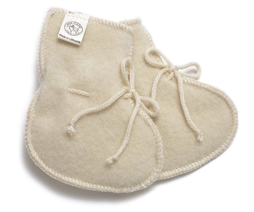 LANACARE Baby Booties in Organic Wool Natural 67% OFF of fixed price Size Max 83% OFF White 0 50