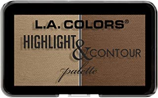 L.A. Colors Highlight and Contour Palette - Medium to Tan, Multi Color, 7 g