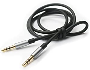 NEW NEOMUSICIA Replacement Cable Compatible with Sony MDR-XB950BT, MDR-10R, MDR-10RC, MDR-10RBT, MDR-NC50, MDR-NC200D Headphones Black 4.5ft/150cm