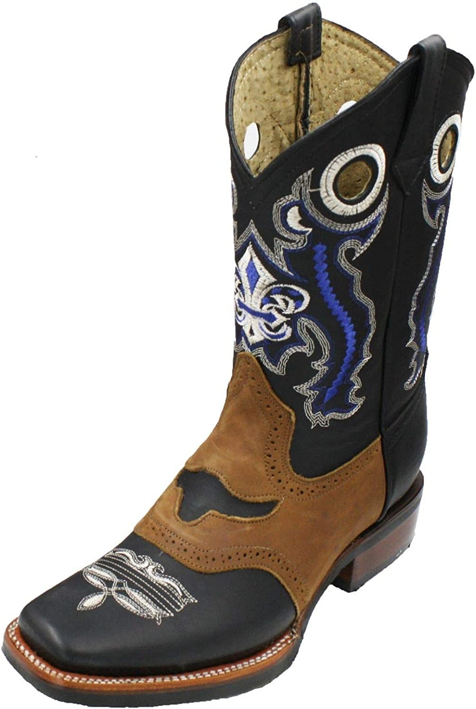 Men Genuine Cowhide Leather Boots Max 48% Regular dealer OFF Rodeo Western Cowboy