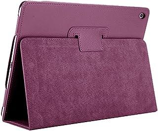 iPad Mini 1/2/3ケース、FANSONG Apple iPad Mini 1/2/3 用カバー 合成皮革 折り畳み ケース【マルチアングルスタンド 、インテリジェント休眠機能付き】(紫)