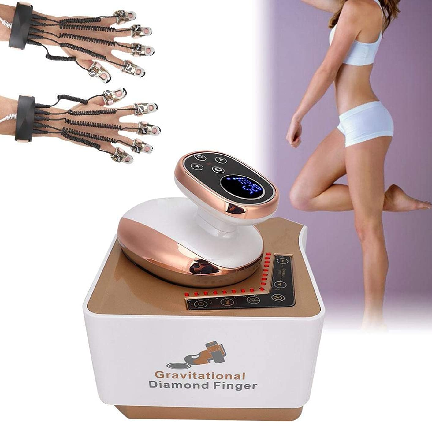 ディンカルビルエラーデンプシーEMSの顔の美機械、赤灯の反老化ボディマッサージ療法装置(米国のプラグ)