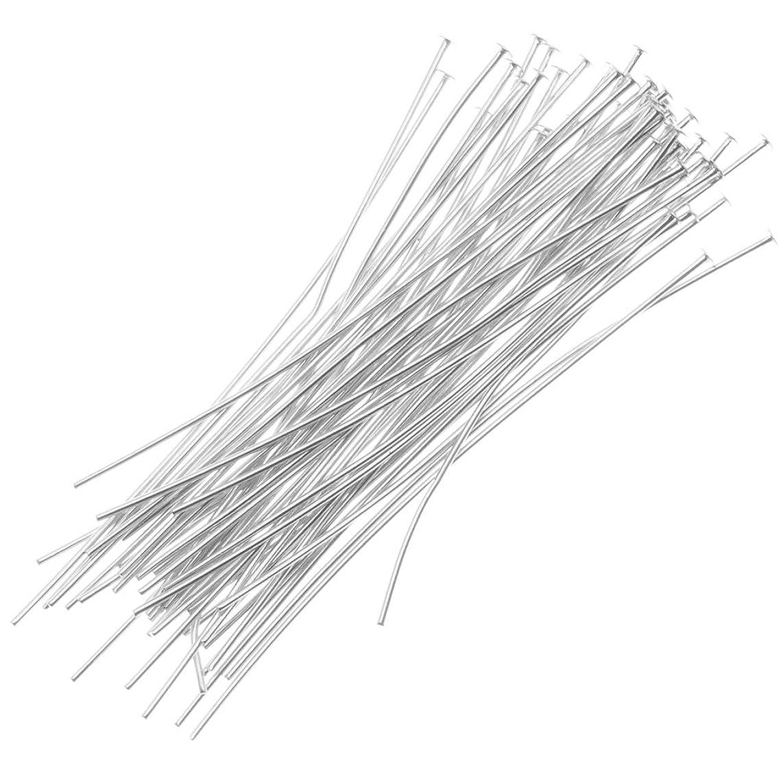 Beadaholique 10-Piece Filled Head Pins, 22-Gauge, 1 1/2-Inch, Silver