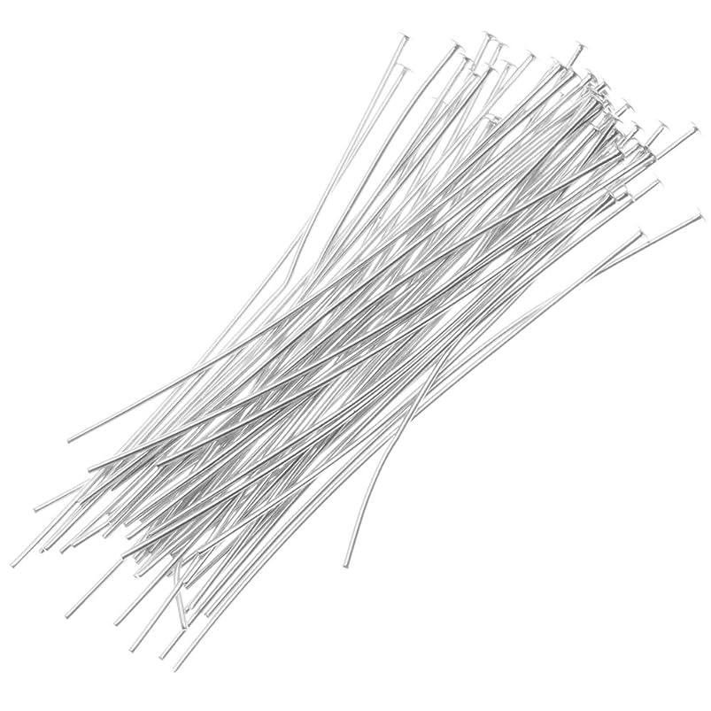 Beadaholique 50-Piece Head Pins, 24-Gauge, 1-Inch, Silver elaxeawo707451