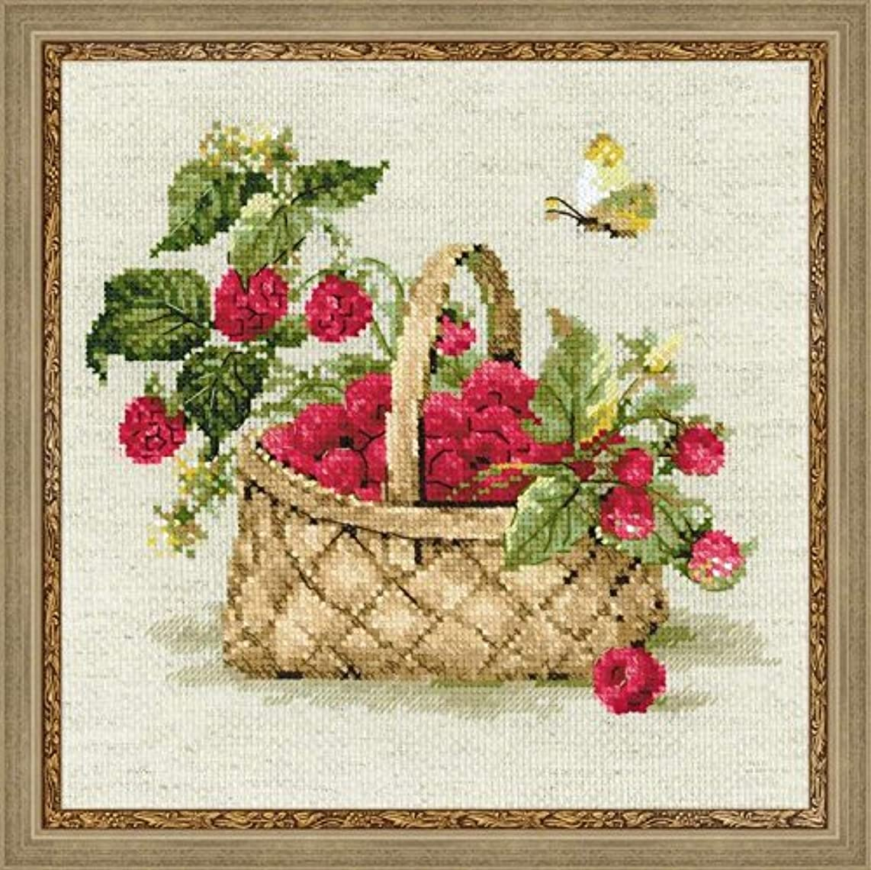 RIOLIS Basket of Raspberries Cross Stitch Kit-11.75
