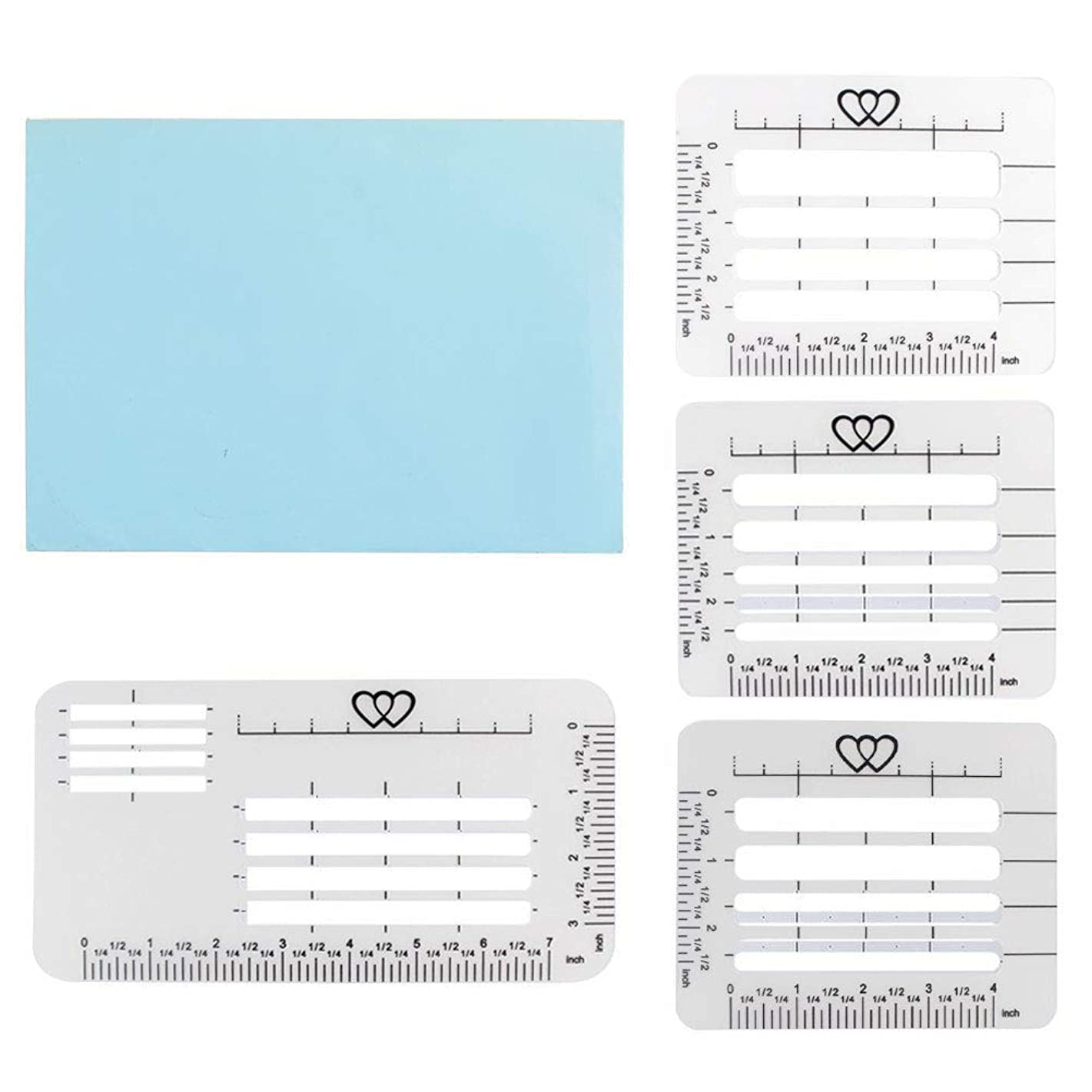 mifengda 4Pcs 4 Style Envelope Addressing Guide Stencil Templates Lettering and Envelope Addressing Guide Fits a Wide Range of Stationery and Envelopes Thank You Card Mother's Day
