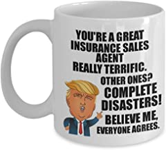 Best Trump Insurance Sales Agent Mug Funny Gift For Coworker Gag Great President Fan Potus Quote Office Joke Coffee Tea Cup 11 oz Review