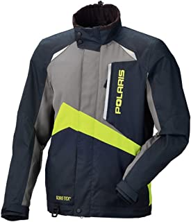 Men's Polaris Gore-TEX Pro Black, Grey and Lime Snowmobile Jacket