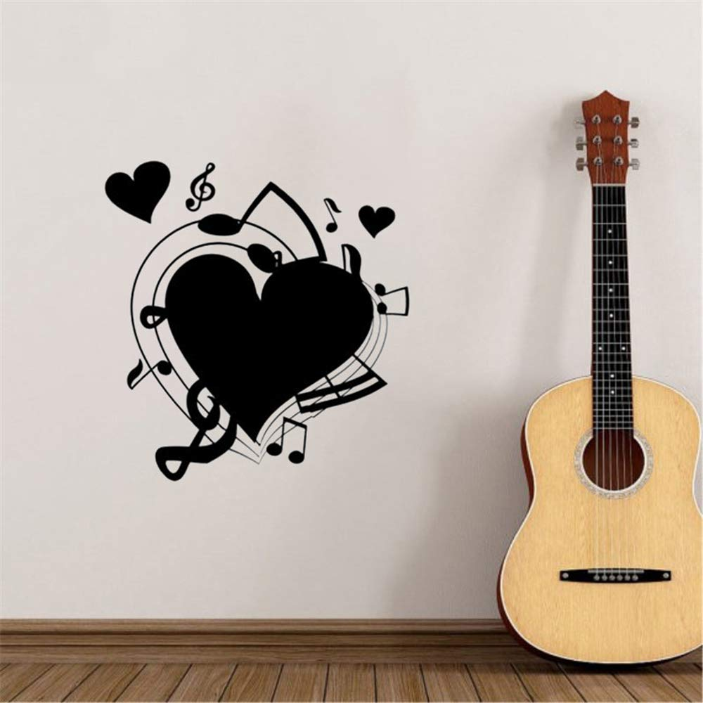 pegatinas de frases para la pared Love Music Fan Sala de estar ...