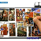 BLOUR 25 Piezas Retro Sexy Picture Poster Show Lady Girl Style Fashion Stickers para teléfono móvil Laptop Suitcase Skateboard Decal Stickers