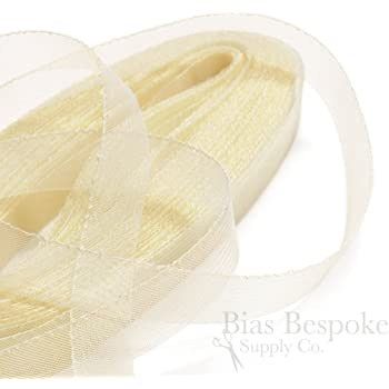 25 Yards of Soft Horsehair Braid with Gathering Thread 1 Wide Cream