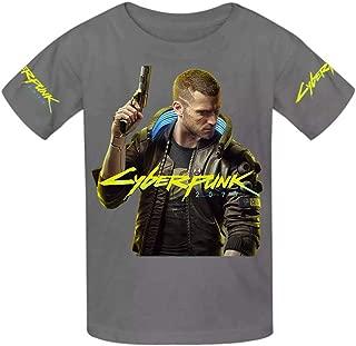 2019 Cyberpunk 2077 Youth Cotton T-Shirts Unisex Child Short Sleeve Tee Shirt