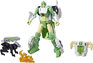 Transformers Generations War for Cybertron: Siege Deluxe Class Wfc-S15 Autobot Greenlight Action Figure with Dazzlestrike Battle Masters Figure