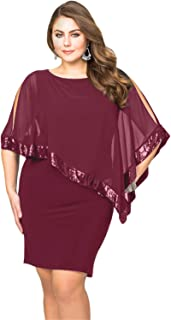 49e6658f4b76 Gloria Sarah Women s Sexy Off Shoulder Ruffles Multiple Dressing Layered Plus  Size Mini Dress