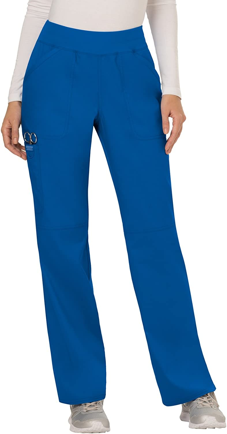 WW Revolution by Cherokee WW110 Women's Mid Rise Straight Leg PullOn Pant