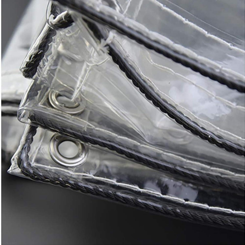 HRFHLHY Transparentes Regenschutztuch, verdickter Rand perforiert transparentes Regenschutz-wasserdichtes Kunststofftuch, Fenster-Balkon-Blaumenschutzabdeckung, im Winter warm,1.5mx1.7m B07KNQ3RX2  Elegante und robuste Verpackung
