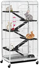 Yaheetech 52'' Multi Level Ferret Cage Indoor Habitats Animal Hutch with 3 Front Doors