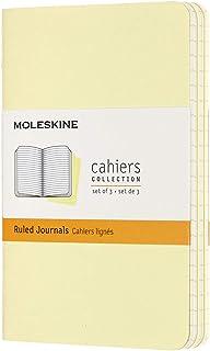 モレスキン ノート カイエ ジャーナル3冊セット 横罫 ポケットサイズ テンダーイエロー CH011M23