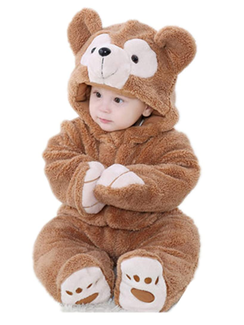 ヘロイン縞模様の彼らはTAOHUA ベビー&キッズ用 カバーオール 足つき ロンパース 着ぐるみ キッズコスチューム 子供 男の子 女の子 パジャマ 防寒着 スウェット ファション (B, 90cm)