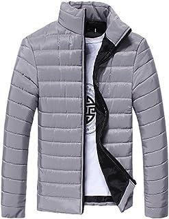 5646b4b5edb18 Ennglun Jacket mens Coats Men's Coat for Boys Men Warm Stand Collar Slim Winter  Zip Coat