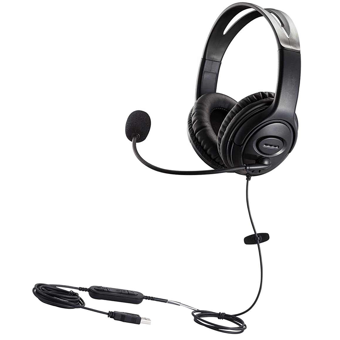 初期の遅らせる台無しにMKJ USBヘッドセットPCヘッドホンwith Noise Cancellingマイク音声認識for Skypeゲームコールセンターソフトフォン